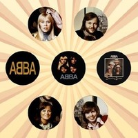 Abba Set of 7 - 1 Inch Pinback Buttons