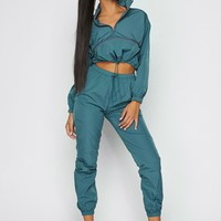 Eastside Wind Breaker Two Piece Set Teal