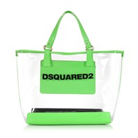 DSquared2 Mykonos Transparent PVC and Green Tote