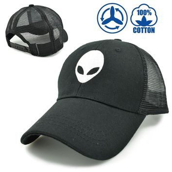 CLIMATE 2017 Aliens Saucer Man E.T UFO Black Summer Cool Mesh Caps Breathable Adult Men Women Trucker Cool Baseball Cap Hat