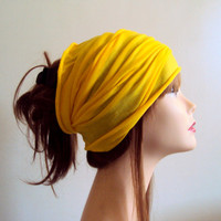 Dreadlock Head Band Yellow Wide Head Band Women Men Fashion Accessories Yoga Bandana Cowl Boho Chic Hippie Rasta HeadBand Gift Ideas