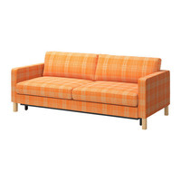 KARLSTAD Sofa bed, Husie orange - Husie orange - IKEA