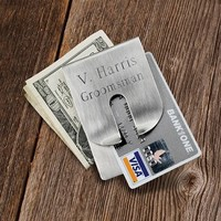 Brushed Clever Money Clip