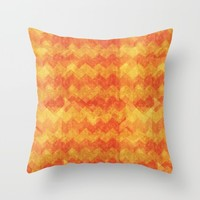 Orange Warmth Throw Pillow by Errne | Society6
