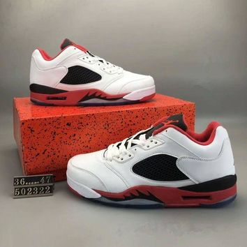 DCK7YE Nike Air Jordan 5' Unisex Casual Small Air Cushion Basketball Shoes Fashion Couple Pl