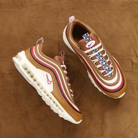 "NIKE AIR MAX 97 TT PRM Retro Runnin Shoes ""Brown Bullet"" AJ3053-200"