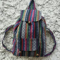 Big Boho Tribal Backpack Bags Diaper Aztec Ethnic Hippies Ethnic Hobo Tapestry Hipster Native Pattern Art Chic For School Messenger Travel