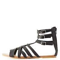 STRAPPY BUCKED GLADIATOR SANDALS