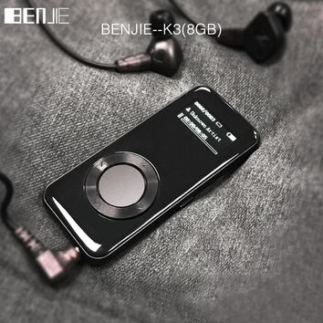Alloy HIFI MP3 Player BENJIE K3 mp3 music player 8GB lossless mini Portable Audio player FM Radio Ebook Voice Recorder
