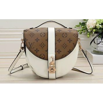 LV Fashion Lady's Colour-matched Full-print Single Shoulder Pack