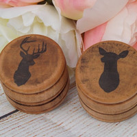 Buck and Doe Wedding Ring Box Ring Bearer Box