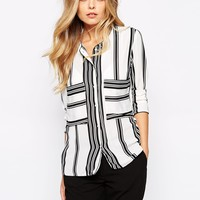 Mango Mixed Stripe Blouse