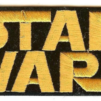 Star Wars Iron-On Patch Gold Letters Logo
