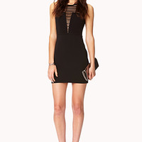 Fancy Shadow-Stripe Bodycon Dress