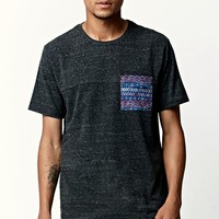 On The Byas Glider Ethnic Pocket Crew T-Shirt - Mens Tee - Black