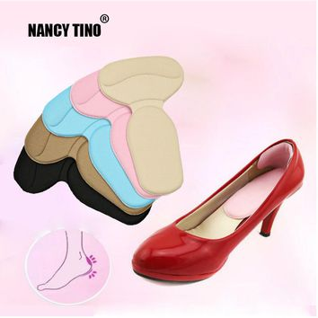 NANCY TINO 4D Sports Shoe Insoles Unisex T-Shape High Heel Grips Liner Arch Support Orthotic Shoes Insert Protector Cushion Pad