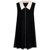 Buy Ted Baker Belloh Collar Detailed Dress, Black | John Lewis