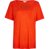 River Island Womens Bright red low scoop t-shirt