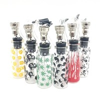 Mini smoking pipe water clear glass small smoking shisha pipe