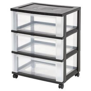 IRIS 3 Drawer Rolling Storage Cart