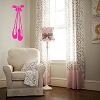 Ballet Shoes Girl Room Wall Art Sticker Decal Nm051