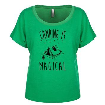 Camping Is Magical Women's Dolman