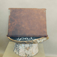 Genuine Bison leather iPad case