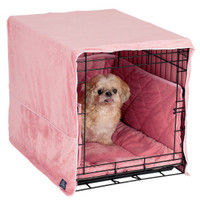 Pet Dreams Personalized Plush Cratewear Dog Bedding Set