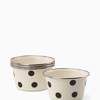 pop by™ deco dot 4 pc popcorn bowls | Kate Spade New York