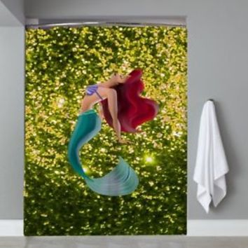 Princess Ariel Disney The Little Mermaid Custom Shower Curtain Limited Edition