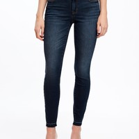 Mid-Rise Frayed-Hem Rockstar Ankle Jeans for Women | Old Navy