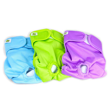 Luxury Reusable Dog Diapers (3-Pack) - Extra Small Durable Dog Wraps Nappies for Both Male and Female Dog Cat Rabbit and Other Small Animals