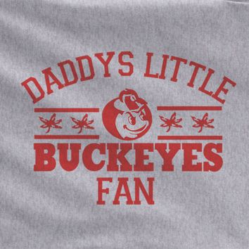 Gray Custom 1 Color Daddys Ohio State Buckeyes Kids Child Tee Tshirt T-Shirt Toddler Youth