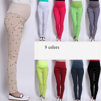 9 Colors 2014 Korean Maternity Pants Belly Pants For Pregnant Women Maternity Women Clothing Trousers Pants Autumn