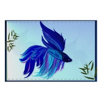 Blue 'n' White Siamese Fighting Fish Posters