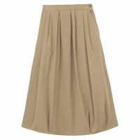 Women Organic Cotton Stretch Chino Easy Ballon Skirt