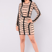 Katrina Mesh Dress - Taupe
