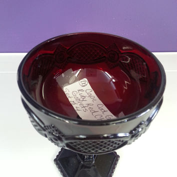 Glass - Ruby Red Cape Cod Goblet by AVON