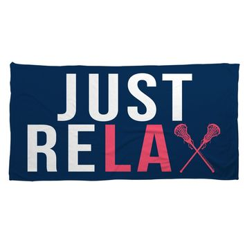 Lacrosse Beach Towel Just Relax | LuLaLax.com