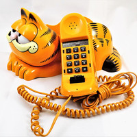 Garfield Telephone, 1986 Tyco, 1980s Room Decor, Vintage Electronics