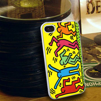 Keith Haring Pop Art iPhone 4/4s/5/5s/5c and Samsung Galaxy s3/s4/s5