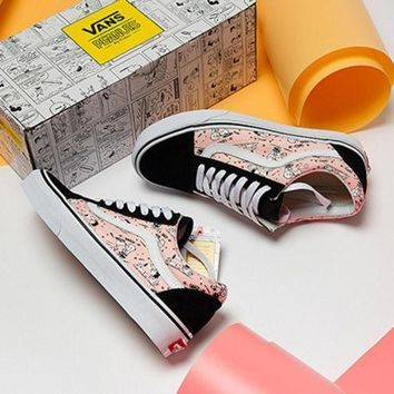 ESBONS Vans X Peanuts Snoopy Canvas Old Skool Flats Shoes Sneakers Sport Shoes