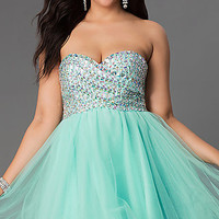 Short A-Line Plus Size Prom Dress