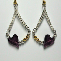 Amethyst Wild Heart Earrings