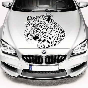 Car Hood Decals Leopard Wild Cat Decal Vinyl Sticker Murals O231
