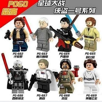 Star Wars Building Blocks Orson Sith Lord Palpatine Qilu Special Han Solo Obi-Wan Baez Princess Leia Gift Toys PG8024