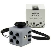 Mini Fidget Cube Vinyl Desk Toy Keychain Squeeze Fun Stress Reliever