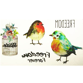 10x6cm Temporary Small Cute Fashion Tattoo Small lovely bird