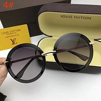 LV Louis Vuitton Trending Women Stylish Summer Style Circular Frame Sun Shades Eyeglasses Glasses Sunglasses 4# I12722-1
