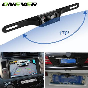 Onever 170 Wide Degree HD Special Waterproof Rear View Camera for Volkswagen 7 LED Night Vision Backup Reverse Parking Camera